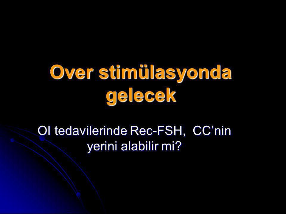 Over stimülasyonda gelecek OI tedavilerinde Rec-FSH, CC'nin yerini alabilir mi?