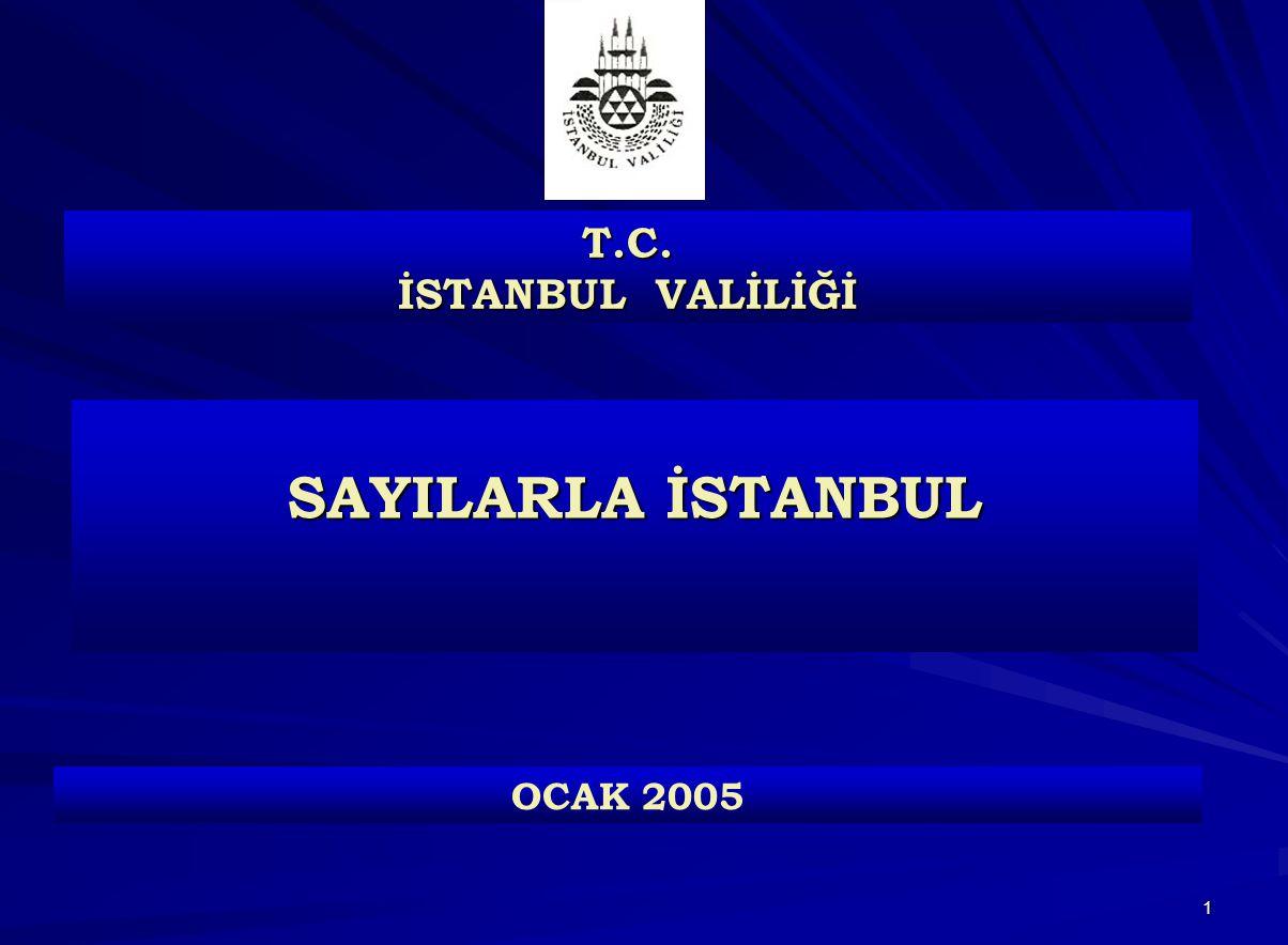 1 SAYILARLA İSTANBUL T.C. İSTANBUL VALİLİĞİ OCAK 2005