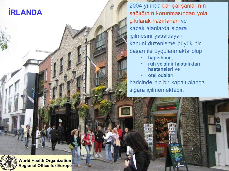 2004 yılında bar çalışanlarının sağlığının korunmasından yola çıkılarak hazırlanan ve kapalı alanlarda sigara içilmesini yasaklayan kanuni düzenleme b