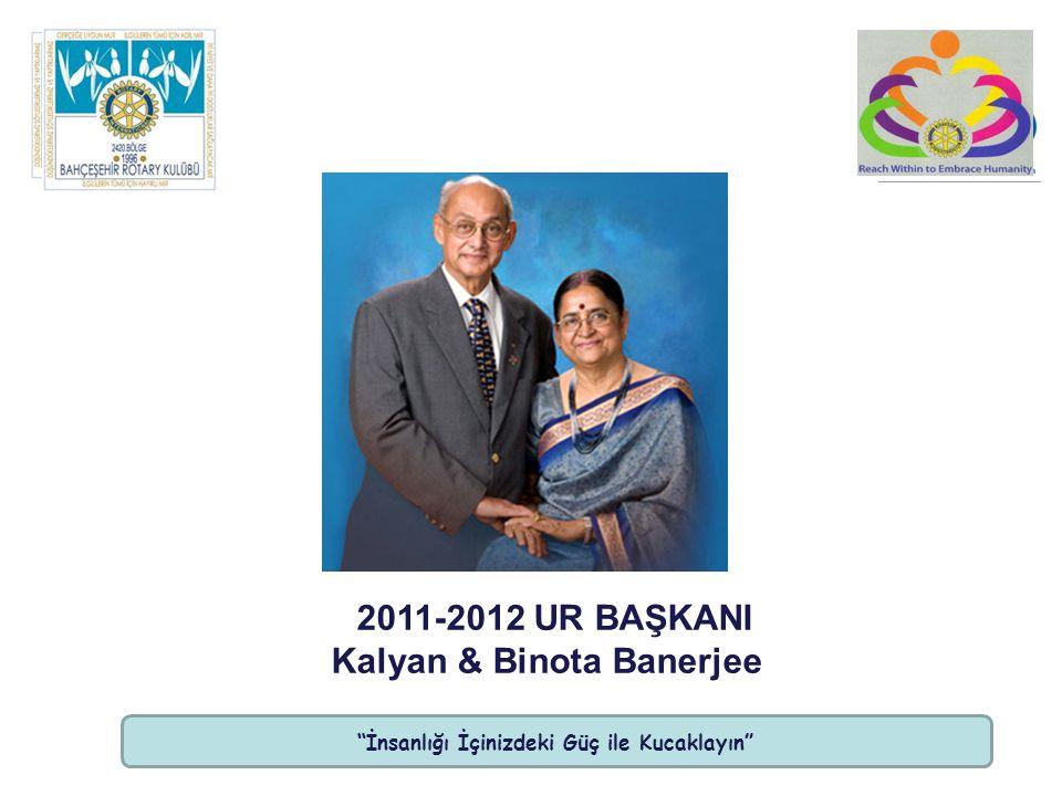 İnsanlığı İçinizdeki Güç ile Kucaklayın 2011-2012 UR BAŞKANI Kalyan & Binota Banerjee