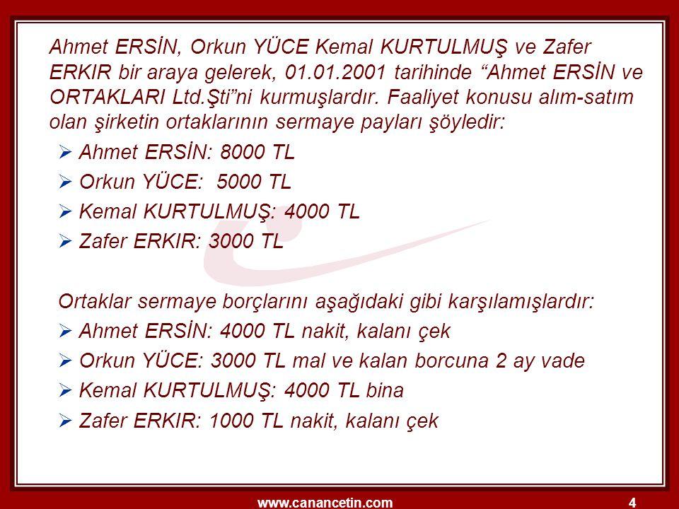 www.canancetin.com25 4.MUHASEBE TÜRLERİ 4.3.