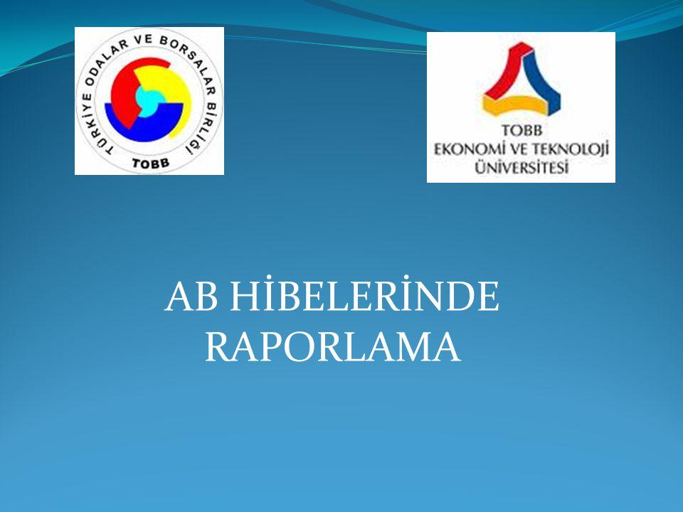 AB HİBELERİNDE RAPORLAMA