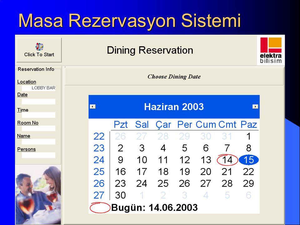 Masa Rezervasyon Sistemi