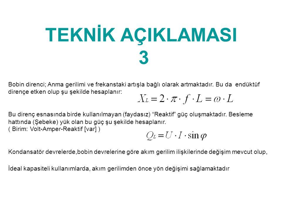 TEKNİK AÇIKLAMASI 3