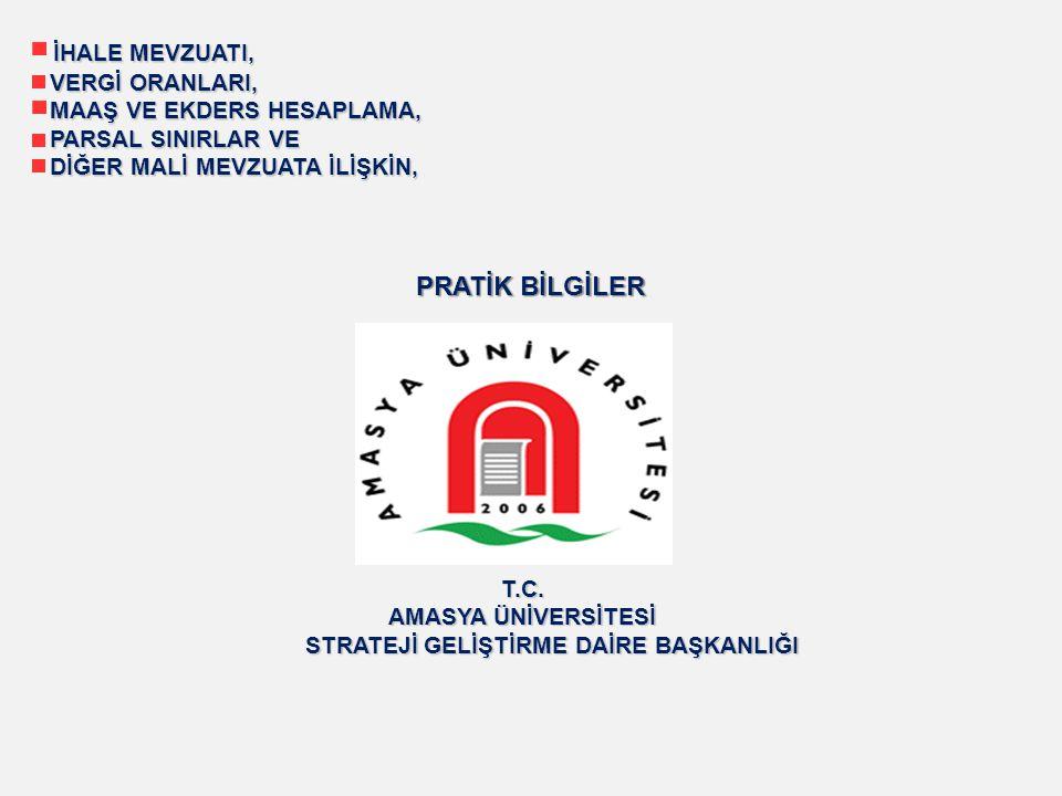 GELİR VERGİSİ (284 seri nolu Gelir Vergisi Genel Tebliği) ÜCRETLİLER İÇİN GELİR VERGİSİ DİLİMLERİ (2013) ORAN 10.700,00 Türk Lirasına kadar%15 26.000,00 Türk Lirasının 10.700,00 TL si için 1.605,00 TL fazlası %20 94.000,00 Türk Lirasının 26.000 TL si için 4.665,00 TL fazlası %27 94.000 Türk Lirasından fazlasının 94.000,00 TL si için 23.025,00 TL fazlası%35 Sakatlık İndirimi Oranları (2013) I.DERECE ( Çalışma Gücünün Asgari %80 ini Kaybedenler) 800,00 TL II.DERECE ( Çalışma Gücünün Asgari %60 ını Kaybedenler) 400,00 TL III.DERECE ( Çalışma Gücünün Asgari %40 ını Kaybedenler) 190,00 TL