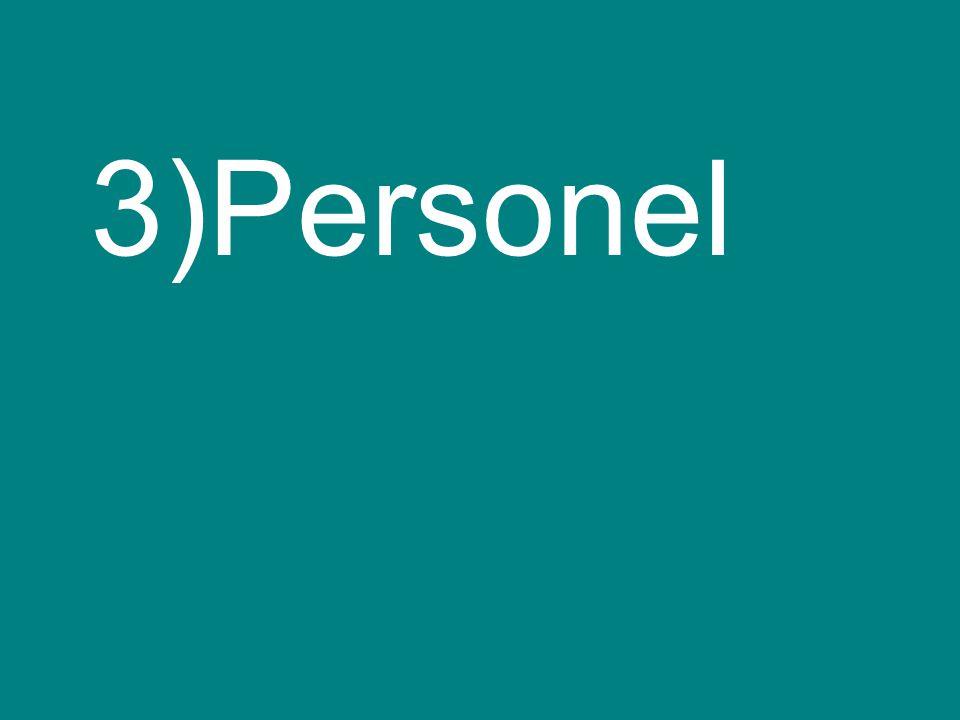 3)Personel