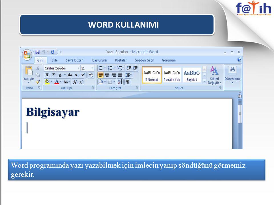 WORD KULLANIMI Seçili olan metini sağa doğru 75 derece açılı eğitk olarak yazılmasını sağlar.