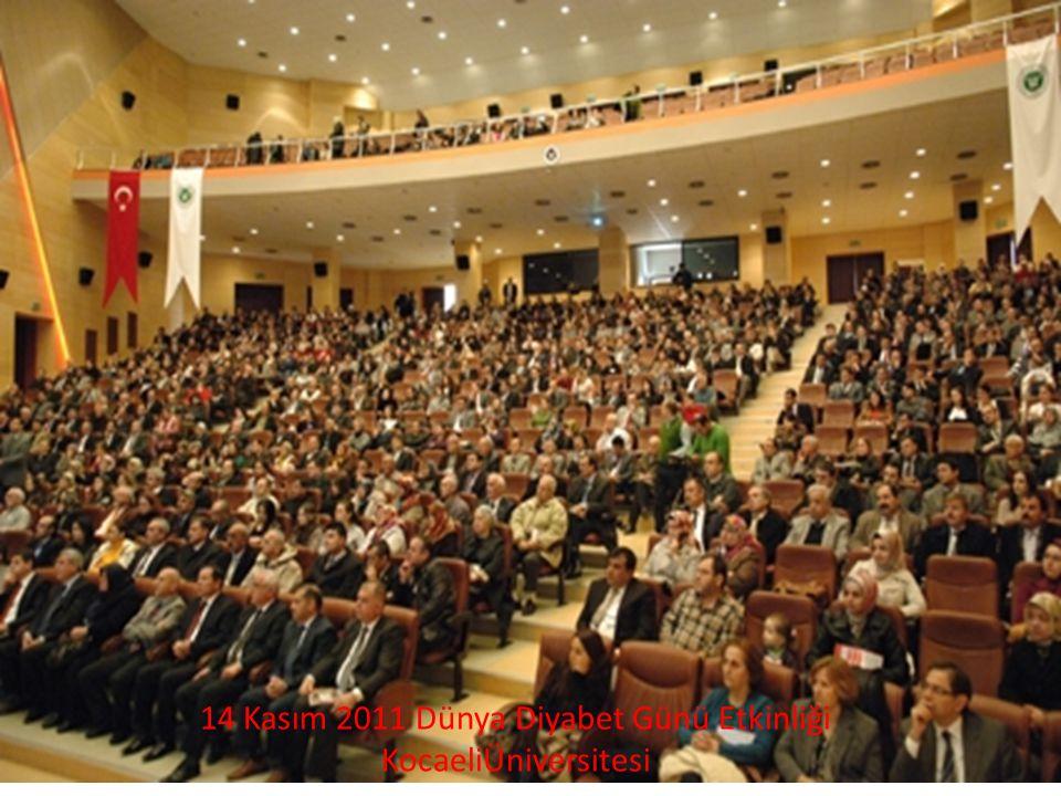 14 Kasım 2011 Dünya Diyabet Günü Etkinliği KocaeliÜniversitesi