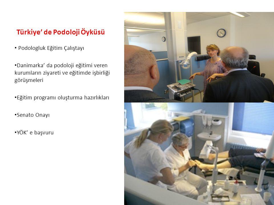 Türkiye' de Podoloji Öyküsü • Podologluk Eğitim Çalıştayı • Danimarka' da podoloji eğitimi veren kurumların ziyareti ve eğitimde işbirliği görüşmeleri