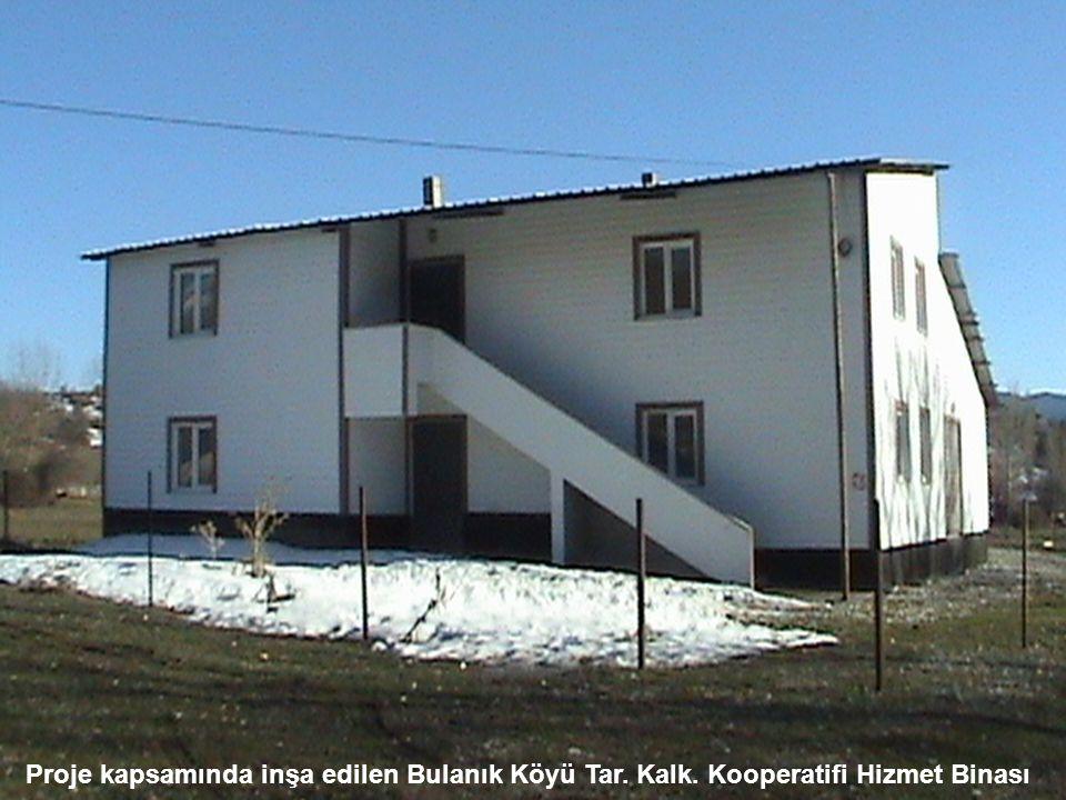 Proje kapsamında inşa edilen Bulanık Köyü Tar. Kalk. Kooperatifi Hizmet Binası