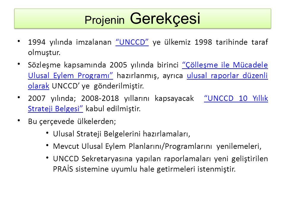 Takvim • Bu kapsamda 2012 yılında taslak Çölleşme ile Mücadele Ulusal Strateji Belgesi hazırlanmış, bunun devamında 2014 yılında Türkiye Çölleşme ile Mücadele Ulusal Eylem Planının UNCCD 10 Yıllık Stratejisi ve Raporlama Sürecine Uyumlaştırılması Projesi başlatılmıştır. Çölleşme ile Mücadele Ulusal Strateji Belgesi • Bu proje kapsamında; – Taslak Strateji Belgesi tamamlanacaktır.