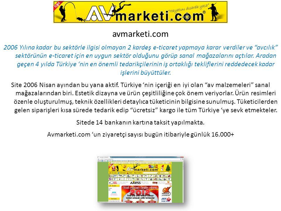 """avmarketi.com 2006 Yılına kadar bu sektörle ilgisi olmayan 2 kardeş e-ticaret yapmaya karar verdiler ve """"avcılık"""" sektörünün e-ticaret için en uygun s"""