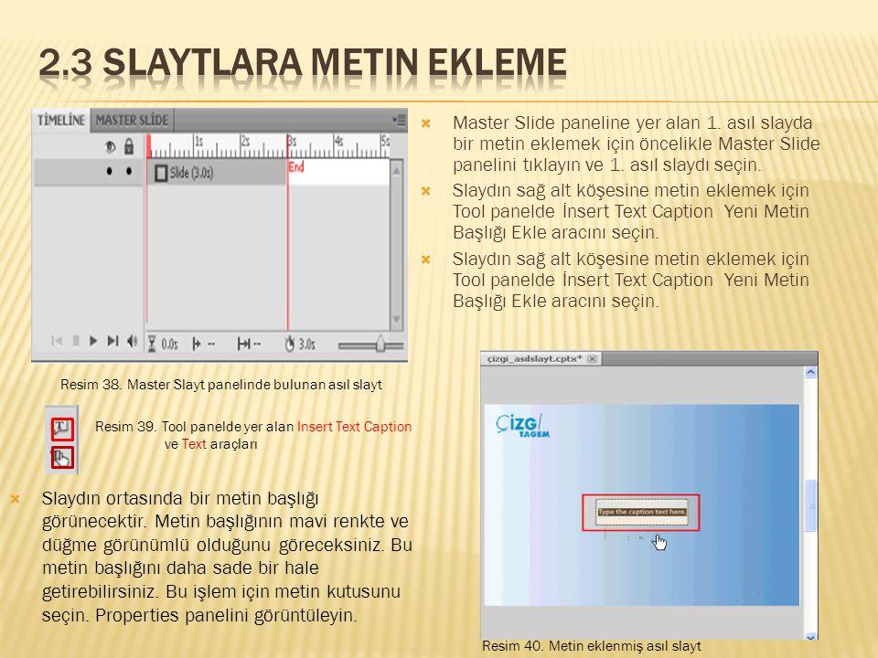  Master Slide paneline yer alan 1.