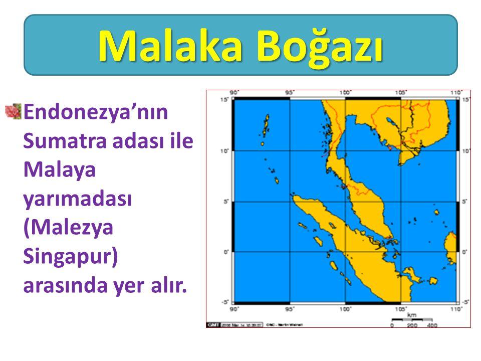 Endonezya'nın Sumatra adası ile Malaya yarımadası (Malezya Singapur) arasında yer alır. Malaka Boğazı