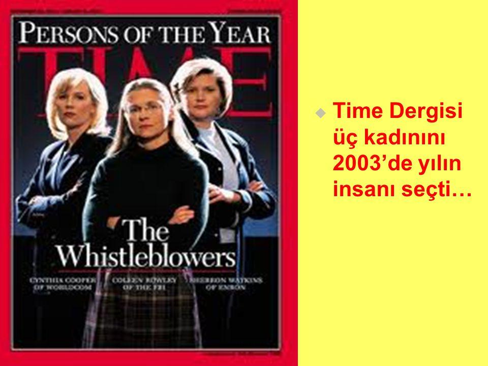   Time Dergisi üç kadınını 2003'de yılın insanı seçti…