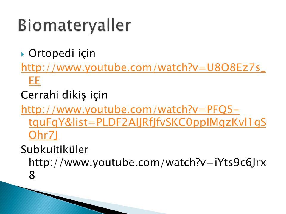  Ortopedi için http://www.youtube.com/watch?v=U8O8Ez7s_ EE Cerrahi dikiş için http://www.youtube.com/watch?v=PFQ5- tquFqY&list=PLDF2AIJRfJfvSKC0ppIMg