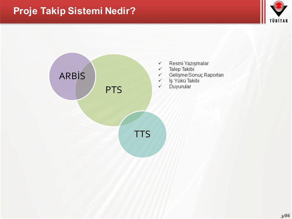 4/86 Proje Takip Sistemi Araştırma Grupları TTS Kullanıcıları Proje Yürütücüleri MADES Proje Takip Sistemi'nin Paydaşları  Bursiyer Bilgileri  Talepler (Grup onayı gerektiren durumlar)  Resmi Yazışmalar  Gelişme Raporu (Bilimsel Kısım)  Gelişme Raporu (Mali Kısım)  TTS fişleri