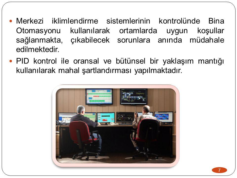 8 Yeni yatırımlarda; cihaz seçimleri ve sistem kurulumları titizlikle yapılmaktadır.