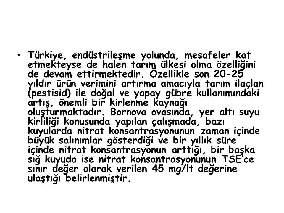 • Türkiye, endüstrileşme yolunda, mesafeler kat etmekteyse de halen tarım ülkesi olma özelliğini de devam ettirmektedir.