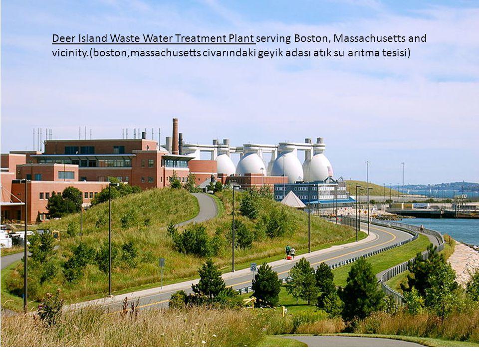 Deer Island Waste Water Treatment Plant serving Boston, Massachusetts and vicinity.(boston,massachusetts civarındaki geyik adası atık su arıtma tesisi)