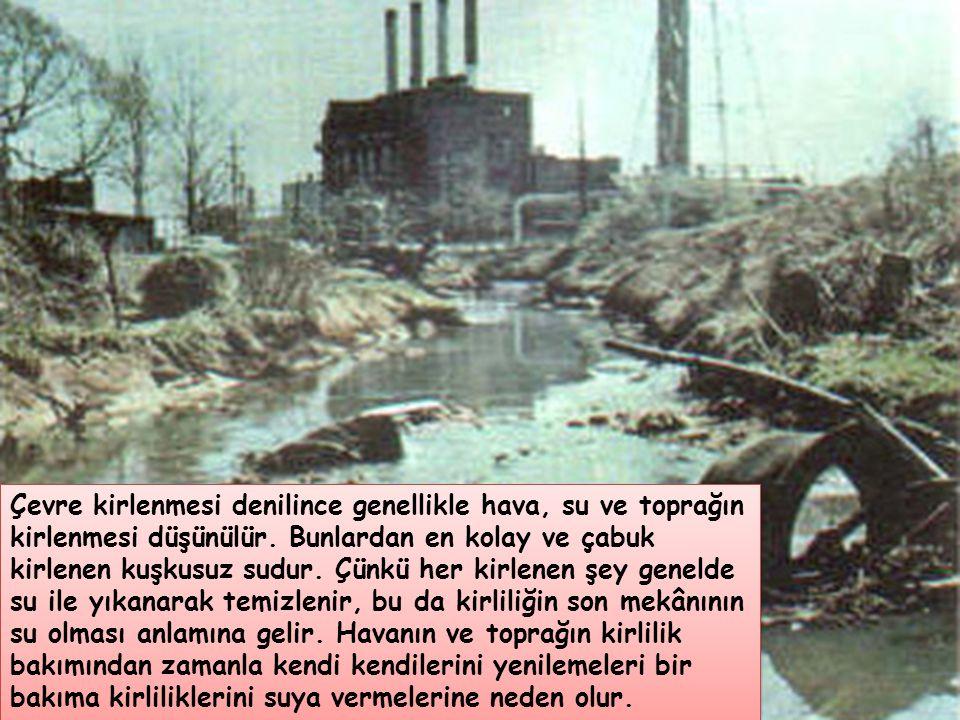 Çevre kirlenmesi denilince genellikle hava, su ve toprağın kirlenmesi düşünülür.