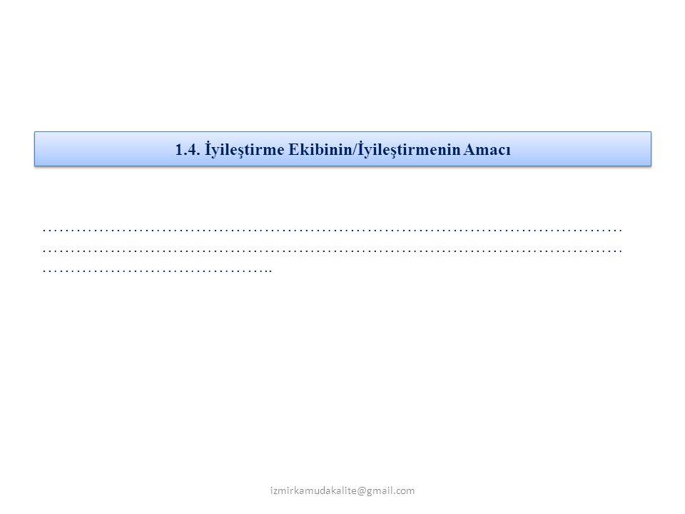3.1. Sebep-Sonu ç (Balık Kıl ç ığı) Diyagramı izmirkamudakalite@gmail.com