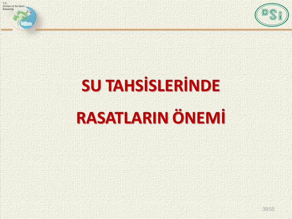 SU TAHSİSLERİNDE RASATLARIN ÖNEMİ 39/55