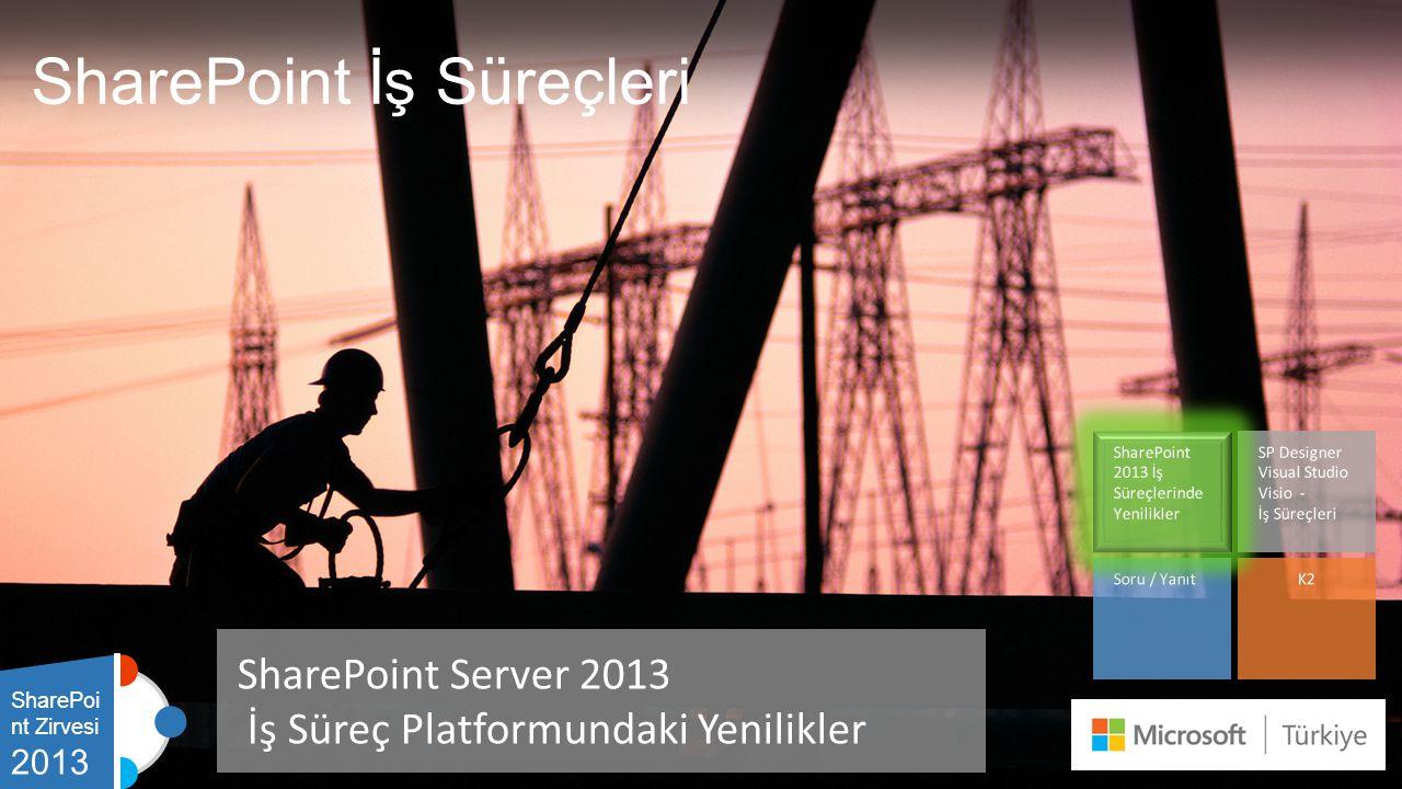 SharePoint İş Süreçleri SharePoint Server 2013 İş Süreç Platformundaki Yenilikler SharePoi nt Zirvesi 2013