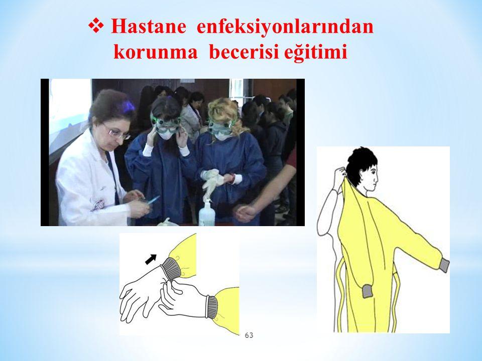 63  Hastane enfeksiyonlarından korunma becerisi eğitimi
