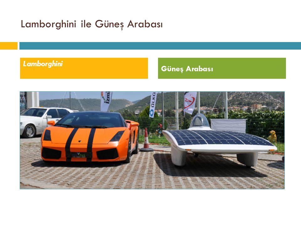 Lamborghini Güneş Arabası Lamborghini ile Güneş Arabası