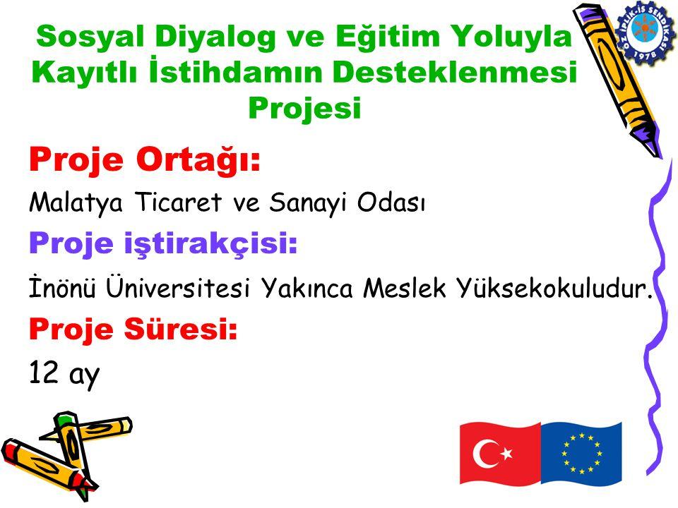 Proje Uygulama Faaliyetleri 4) Açılış ve Tanıtım Toplantısı Proje Uygulama bölgesinin Malatya olması nedeniyle Malatya'da gerçekleştirdiğimiz bu toplantı.