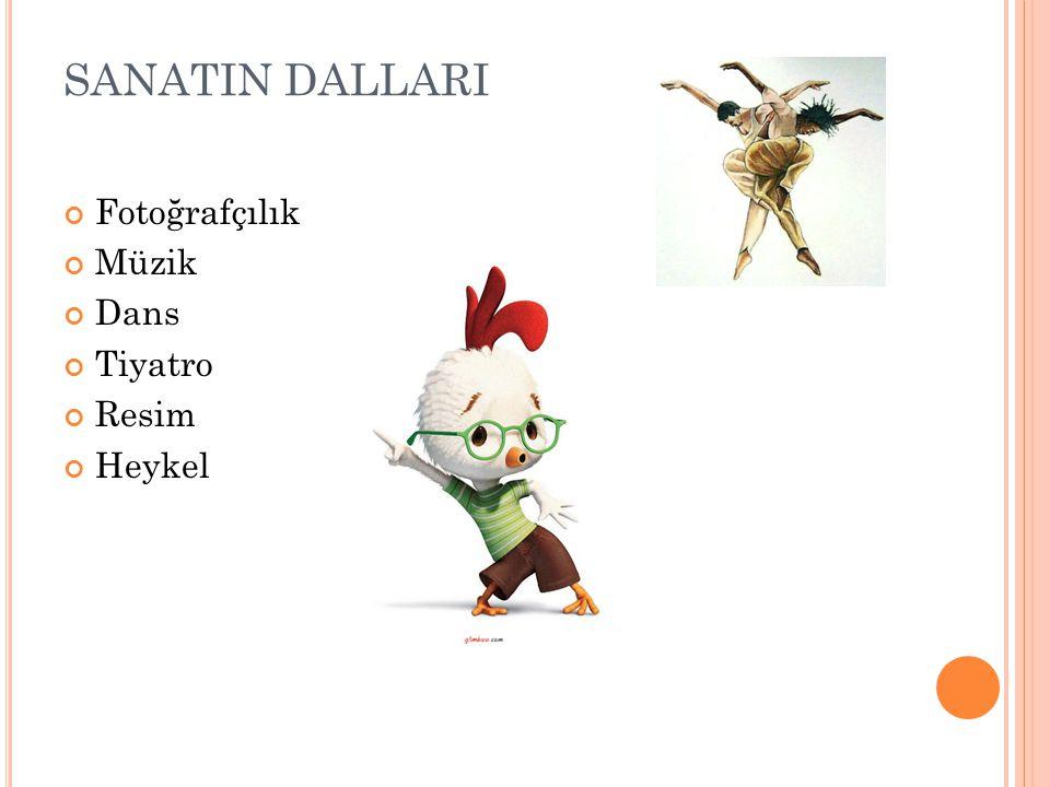SANATIN DALLARI Fotoğrafçılık Müzik Dans Tiyatro Resim Heykel