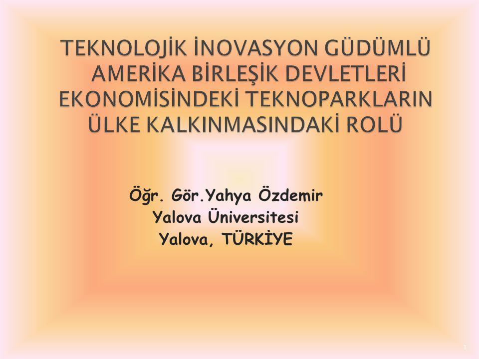 Öğr. Gör.Yahya Özdemir Yalova Üniversitesi Yalova, TÜRKİYE 1