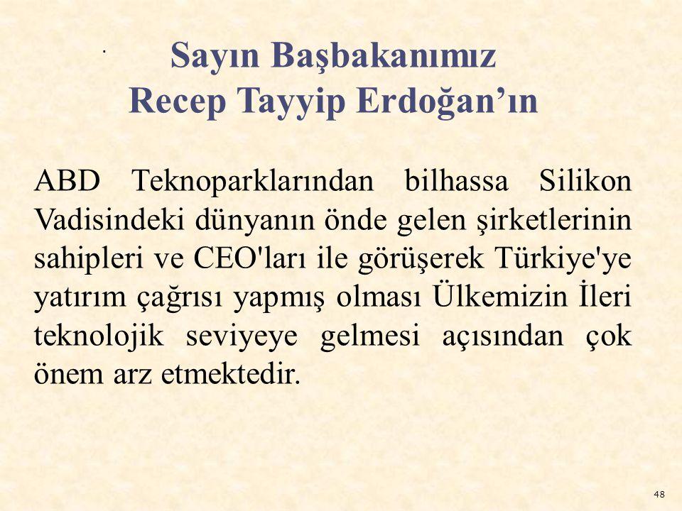 48. Sayın Başbakanımız Recep Tayyip Erdoğan'ın ABD Teknoparklarından bilhassa Silikon Vadisindeki dünyanın önde gelen şirketlerinin sahipleri ve CEO'l