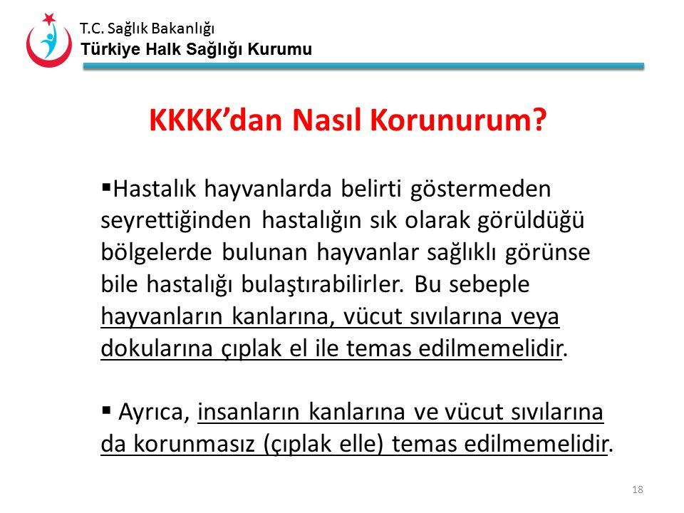 T.C. Sağlık Bakanlığı Türkiye Halk Sağlığı Kurumu T.C. Sağlık Bakanlığı Türkiye Halk Sağlığı Kurumu 17 Kene tutunmasından sonra 10 gün içinde Ateş Hal