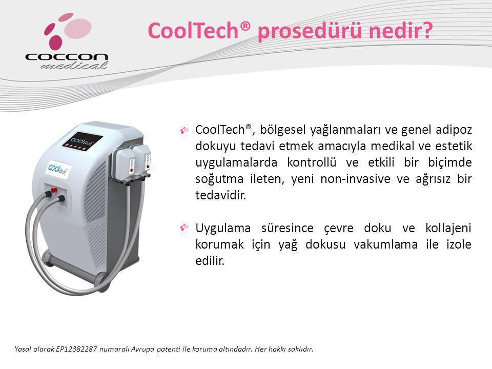 CoolTech® temel uygulaması 1.CoolTech® başlığı adipoz dokuya vakum uygular.
