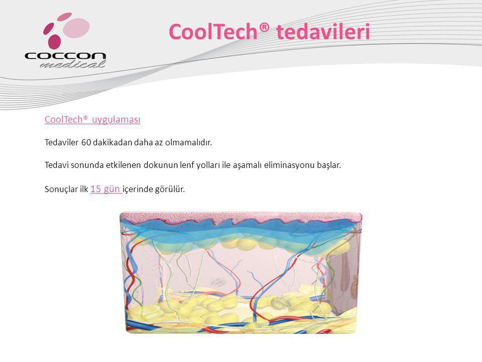 CoolTech® uygulaması Tedaviler 60 dakikadan daha az olmamalıdır. Tedavi sonunda etkilenen dokunun lenf yolları ile aşamalı eliminasyonu başlar. Sonuçl
