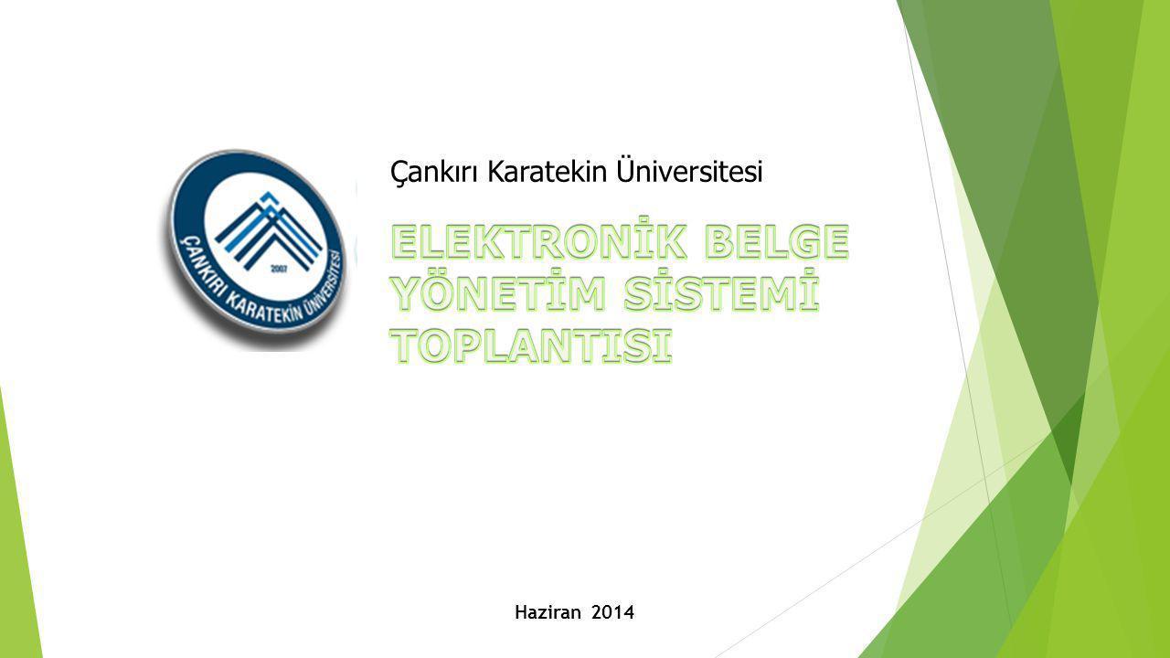 Çankırı Karatekin Üniversitesi Haziran 2014