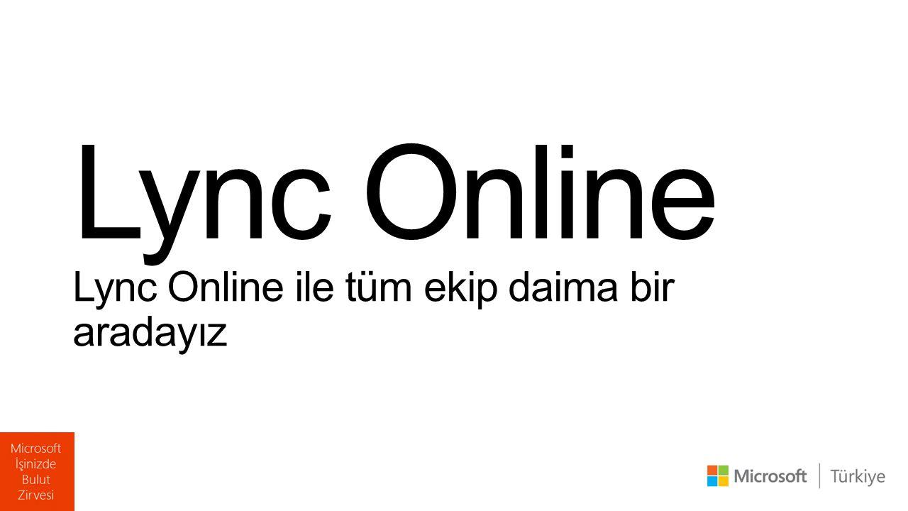 Lync Online ile tüm ekip daima bir aradayız Lync Online