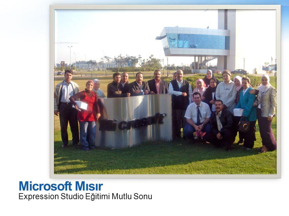 Microsoft Mısır Expression Studio Eğitimi Mutlu Sonu