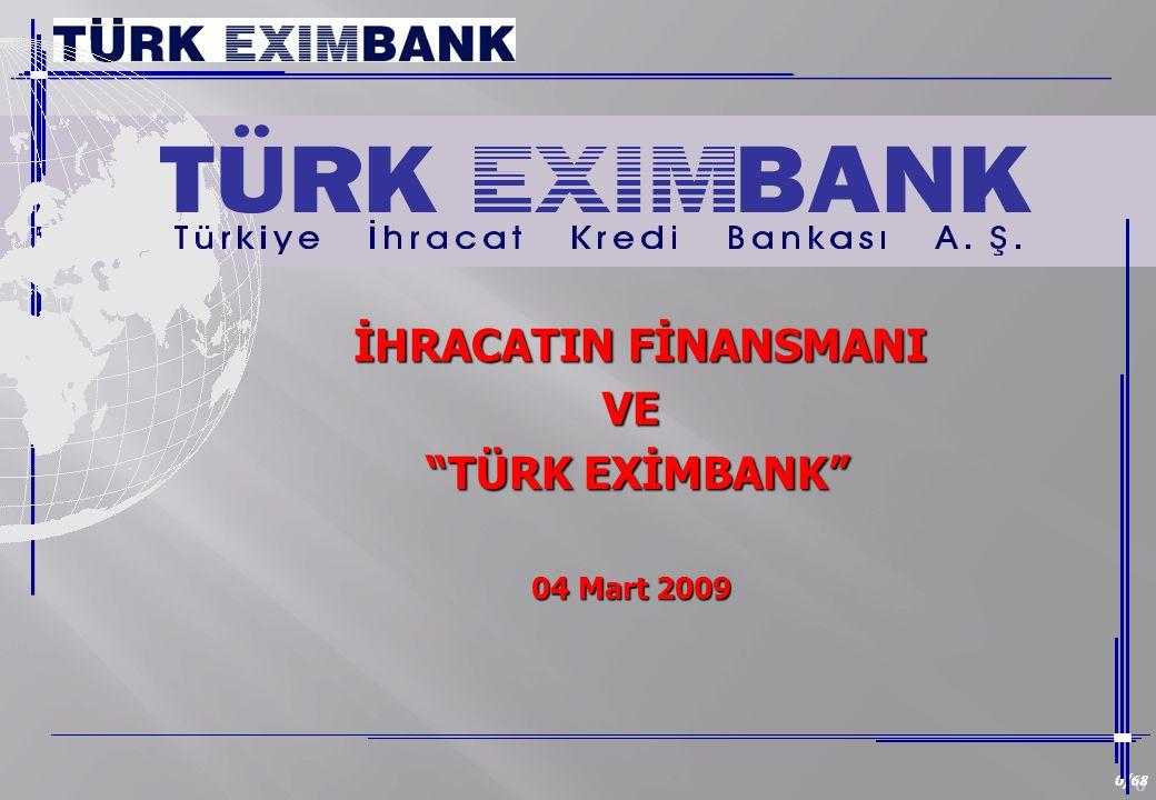 0 0/68 İHRACATIN FİNANSMANI İHRACATIN FİNANSMANIVE TÜRK EXİMBANK TÜRK EXİMBANK 04 Mart 2009