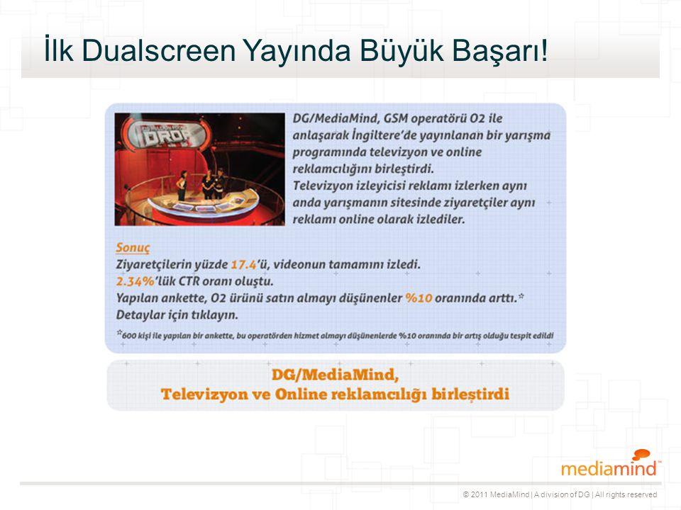© 2011 MediaMind | A division of DG | All rights reserved İlk Dualscreen Yayında Büyük Başarı!