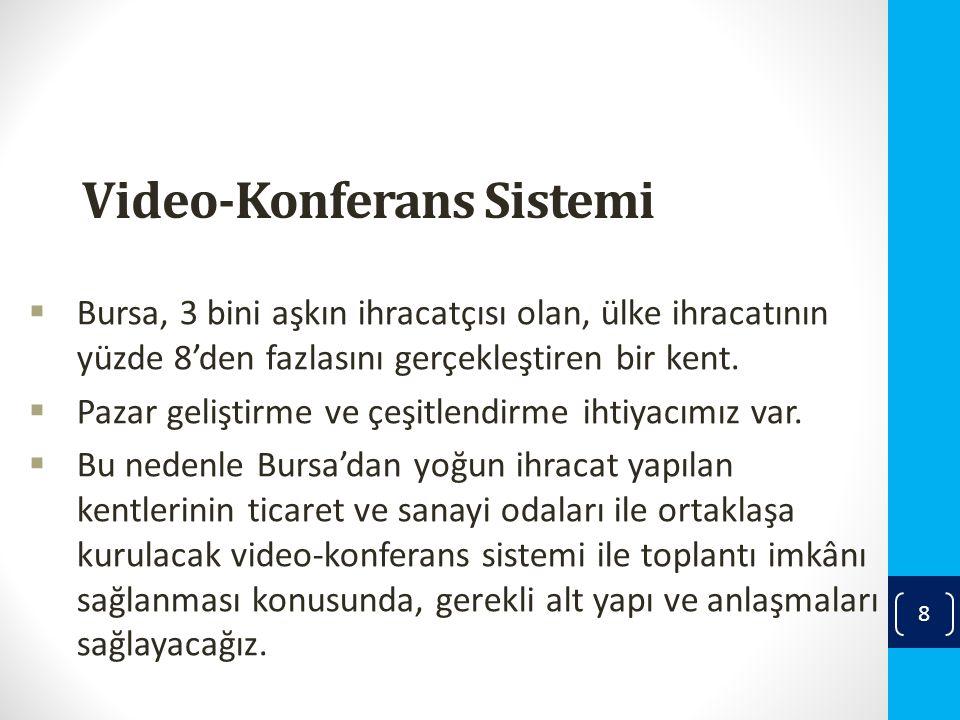 Video-Konferans Sistemi  Bursa, 3 bini aşkın ihracatçısı olan, ülke ihracatının yüzde 8'den fazlasını gerçekleştiren bir kent.