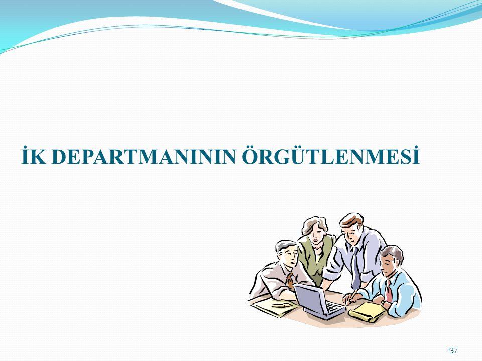İK DEPARTMANININ ÖRGÜTLENMESİ 137