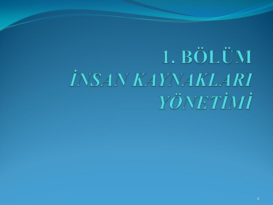 İNSAN KAYNAKLARI YÖNETİCİSİ VE ROLLERİ 143