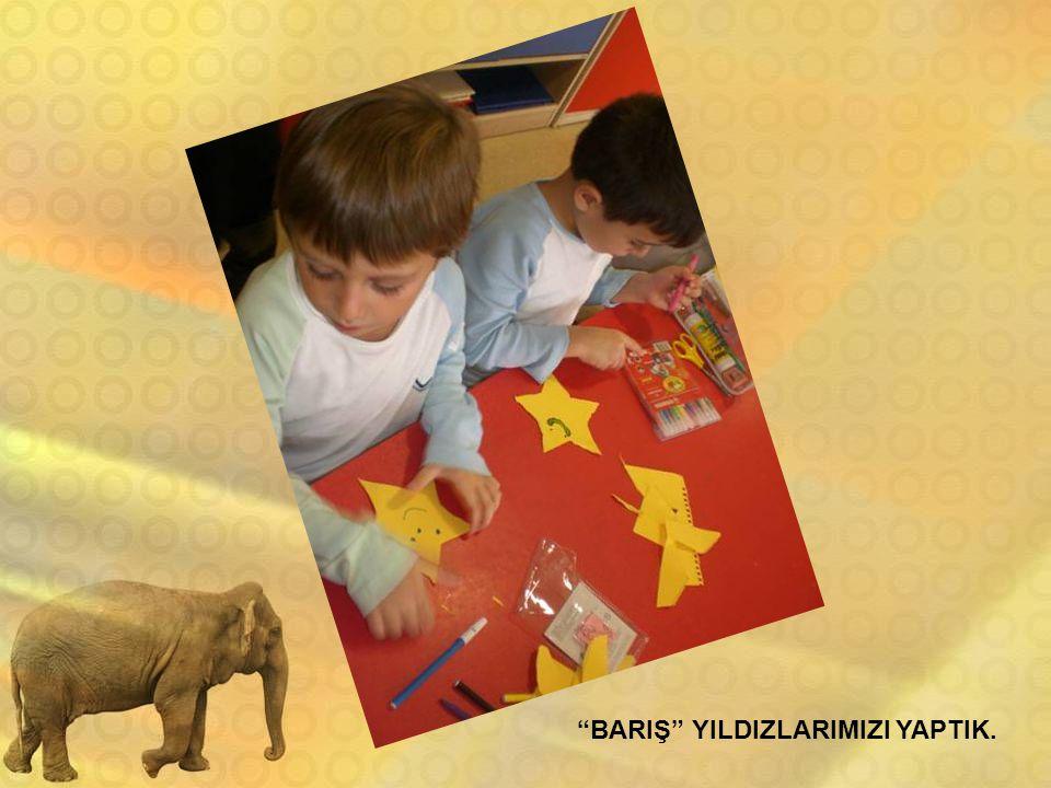 """""""BARIŞ"""" YILDIZLARIMIZI YAPTIK."""