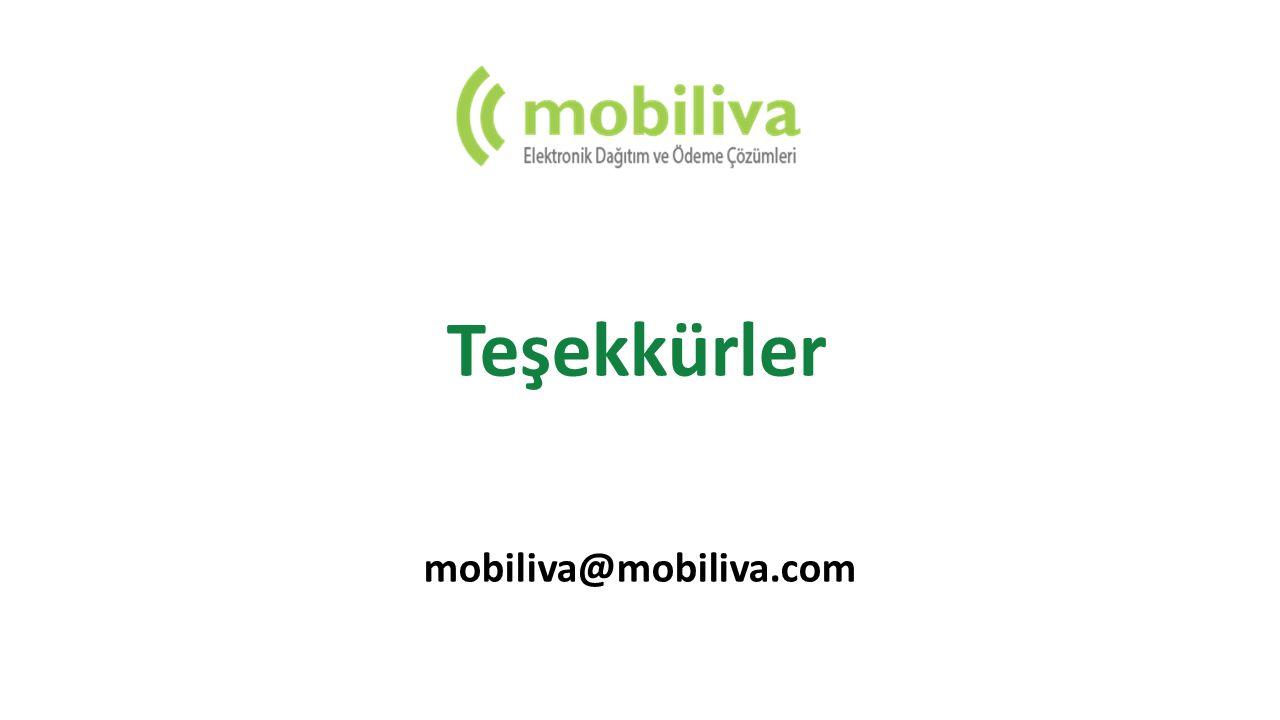 Onlarca parakende zinciri ile görüşmeler devam ediyor. Teşekkürler mobiliva@mobiliva.com