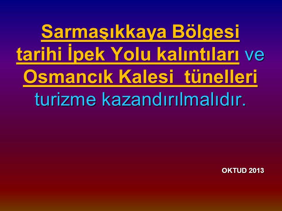Sarmaşıkkaya Bölgesi tarihi İpek Yolu kalıntıları ve Osmancık Kalesi tünelleri turizme kazandırılmalıdır.