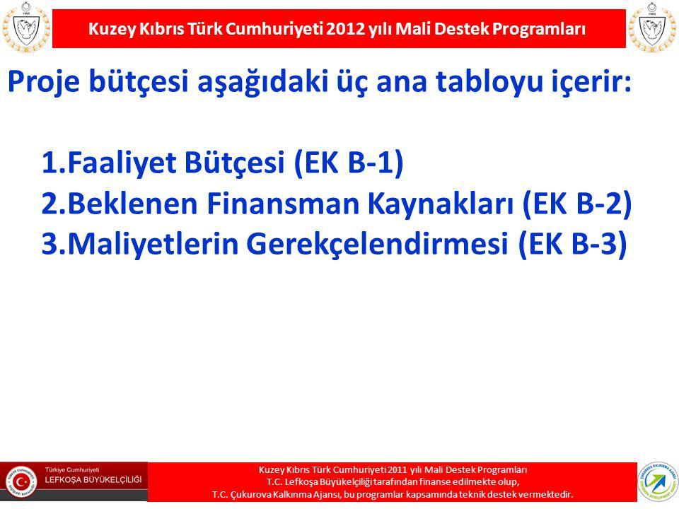 Kuzey Kıbrıs Türk Cumhuriyeti 2012 yılı Mali Destek Programları Kuzey Kıbrıs Türk Cumhuriyeti 2011 yılı Mali Destek Programları T.C. Lefkoşa Büyükelçi