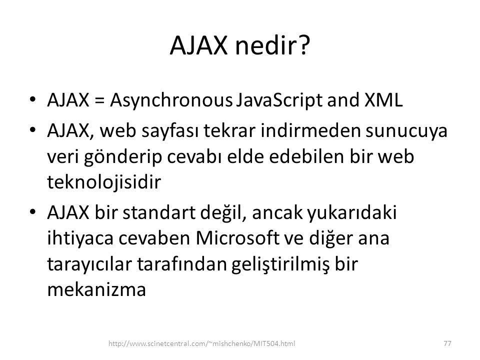 AJAX nedir.